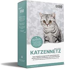 Good-to-have Katzen Schutznetz für Balkon & Fenster | 8x3m | Extra Stabil | Transparent | Einfache Montage Auch Ohne Bohren | inkl. verstärktem Befestigungsmaterial & Montageanleitung