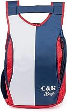 Chris & Kate Polyester 21 Ltr Red & Navy Blue School Bag
