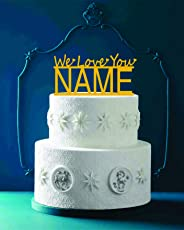SYGA We Love You Cake Topper for Decorating Your Cake(Golden)