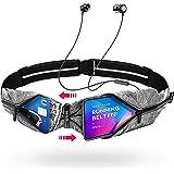 Akalas ultraleichte Laufgürtel, wasserdichte Sport Hüfttasche, verstellbare Taschengröße Handytasche, 360 Grad reflektierende