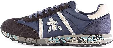 PREMIATA Lucy 4931 Sneaker Uomo CAMOSCIO E Nylon Blu Blue, 40