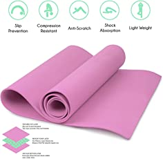 QuickShel Power Anti Skid Yoga mat with Bag and one QuickShel Socks