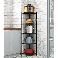 Étagère d'angle de cuisine à 5 niveaux, support autoportant pour organiser les casseroles en acier inoxydable