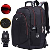 Freebiz 60L 18.4''Sac à Dos Ordinateur Portable PC Couvercle Imperméable Backpack Laptop avec Pris USB Anti-choc Gaming Laptops pour Dell, Asus, MSI