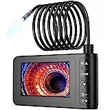 Vastar Endoscopio HD 1080P,4.3 Pollici Schermo LCD a Colori,5.5 mm Boroscopio a Luce Rregolabile Regolabile,3000 mAh,Impermeabile IP67,Ricarica Rapida,5M