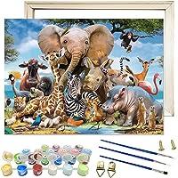 Peinture Numero Adulte, Zoo Animaux DIY Peinture à l'huile de Bricolage Kits pour Adulte Enfant Débutant Peindre par…