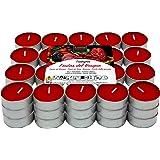 Lot de 60 bougies chauffe-plat parfumées fruits rouges