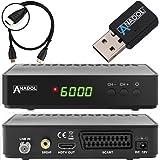 Anadol HD 200 +Plus HD HDTV digitaler Satelliten-Receiver (HDTV, DVB-S2, HDMI, SCART, 2X USB 2.0, Full HD 1080p, YouTube) [vorprogrammiert] inkl. HDMI Kabel - schwarz (mit WLAN)