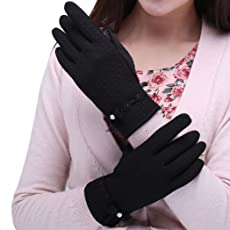 Women's Winter Fleece Lined Touchscreen Gloves for Smart Phones Tablets Driving