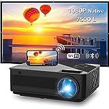Proiettore WiFi FANGOR Videoproiettore Full HD Proiettore 1080P Nativo 7500L Bluetooth Proiettore per home theater , compatib
