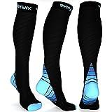 Physix Gear Sport Calze Compressione Graduata Uomo e Donna (20-30 mmHg) - Calze Elastiche Sportive per circolazione, vene var