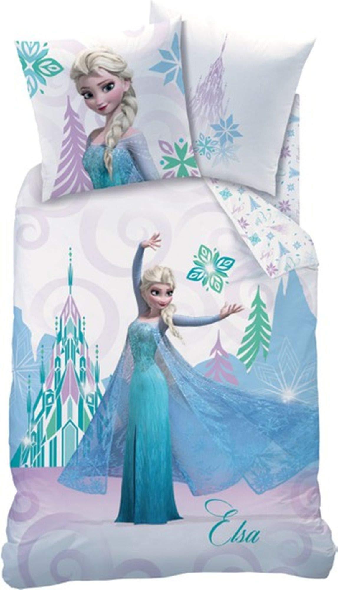 Biancheria Da Letto Disney.Disney Frozen Arabesque Set Di Biancheria Da Letto Cotone Bianco