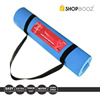 SBZ - SHOPBOOZ Yoga Mat for Gym Workout and Flooring Exercise - Yoga Mat with Strap for Men Women (6 x 2 feet)