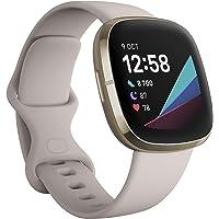 Fitbit Pack Fitbit Sense, la montre connectée intelligente pour la santé via des outils pour la suivi cardiaque avec un…