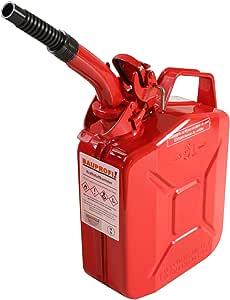 Stahlblechkanister Rot 5 Liter Auslaufrohr Flexibel Benzinkanister Kanister Auto