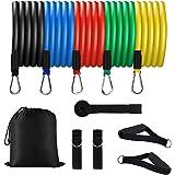 Sooair Resistance Bands - Set di fasce di resistenza con fasce per esercizi, maniglie, fissaggio per i piedi, ancoraggio per