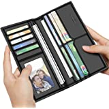 LAORENTOU Men Genuine Cow Leather Wallet Long Purse Card Holder Father's day Gift