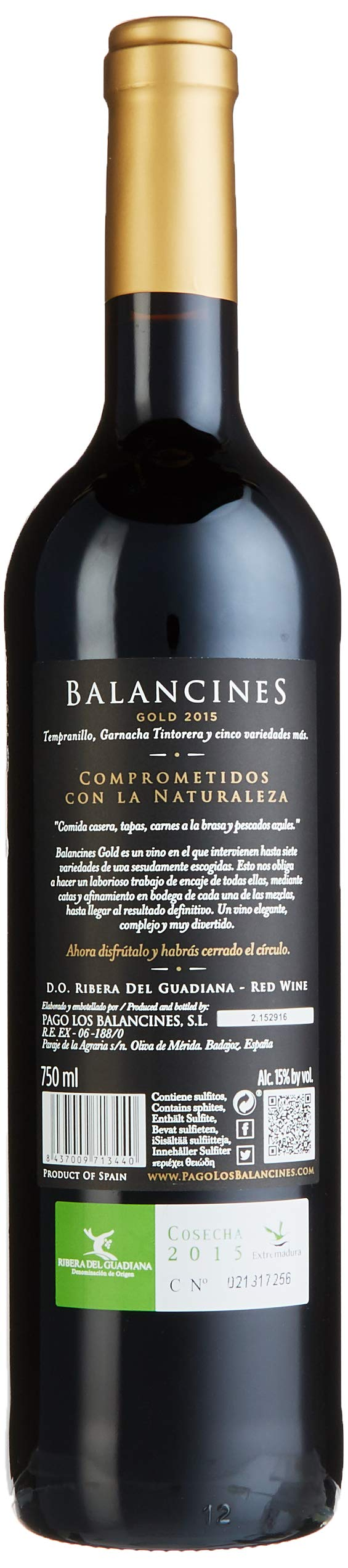 Pago-Los-Balancines-Gold-Tempranillo-2015-trocken-6-x-075-l