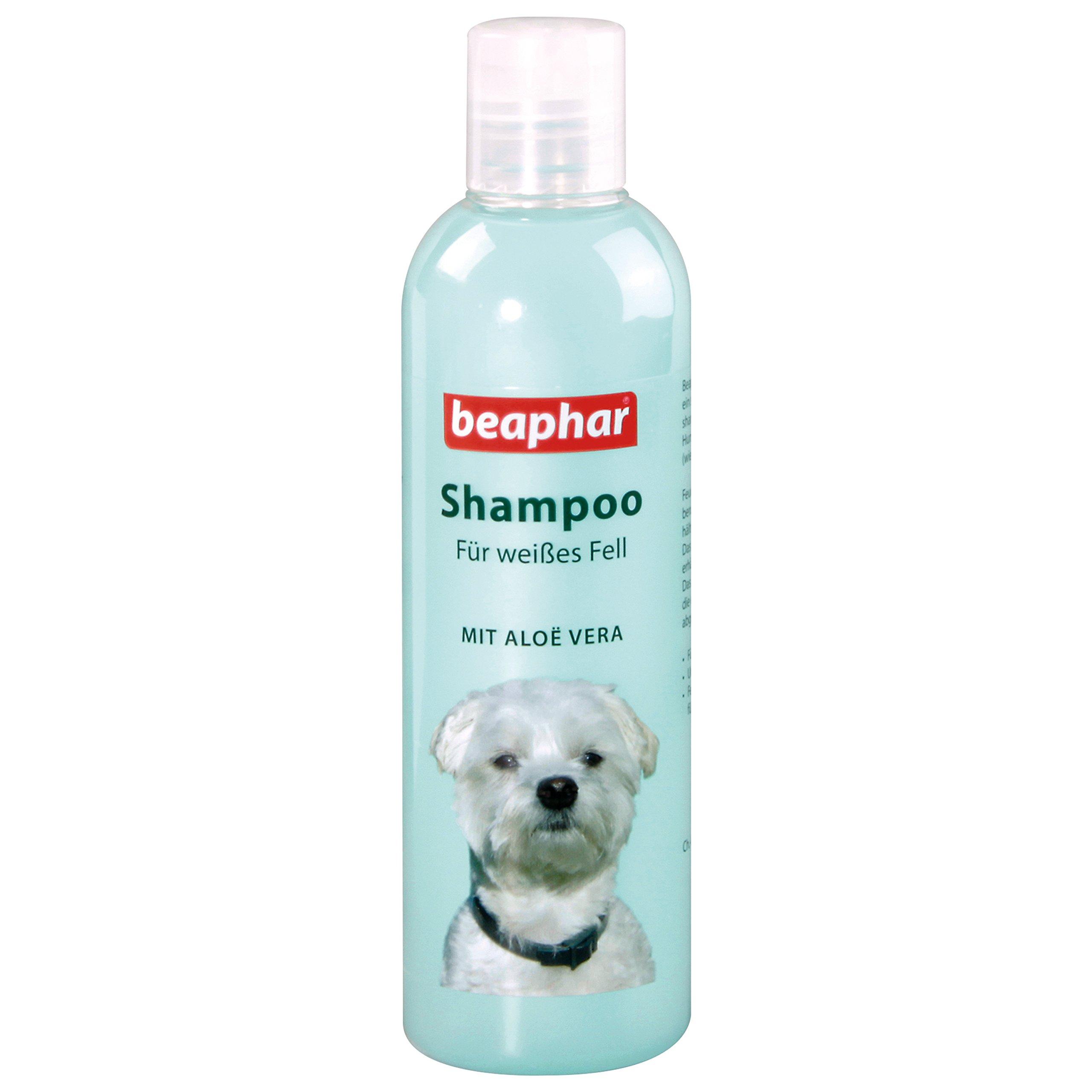 Beaphar Dog Shampoo for White Coats. PH Neutral Dog Shampoo with Aloe Vera Shampoo for Maltese & Havanese Dog Shampoo 250ml