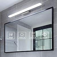 Yafido Lampe pour Miroir LED Applique Salle de Bain 9W Blanc Froid 6000K Luminaire Salle de Bain Moderne Eclairage Salle…