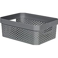 CURVER | Bac Infinity 11L , Gris Anthracite, 35,6 x 26,6 x 13,6 cm, Plastique recyclé