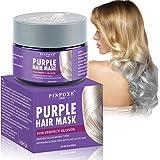 Maschera Antigiallo per Capelli, Silver Mask, Purple Hair Mask, Tonalizzante Viola per Capelli Biondi e Argento Ravviva il Co
