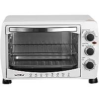 WOLTU BF09ws Mini Four à pizza Double porte en verre avec plaque de cuisson et rôtissoire avec minuterie 0-250 ° C 1400…