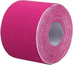 Healifty Therapy Tape Self Adhesive Support Tape Physio Therapeutic Aid for Knees Shoulders Muscle Support 500 x 2.5cm (Pink)