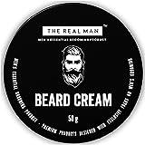 THE REAL MAN Moisturizing Beard Cream 50g. With Extract of Aleo Vera & Virgin Coconut Oil.