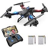 SNAPTAIN S5C Drohne mit Kamera HD 720P live übertragung WiFi FPV RC Quadrocopter Sprachsteuerung Gravitationssensor Flugbahnflug KopflosModus Höhehalten 3D Flips Notlandung RC Drohne für Anfänger
