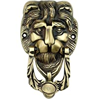 MADHULI Victorian Style Lion Face Antique Brass Vintage Finished Door Knocker (15.5x9 cm)