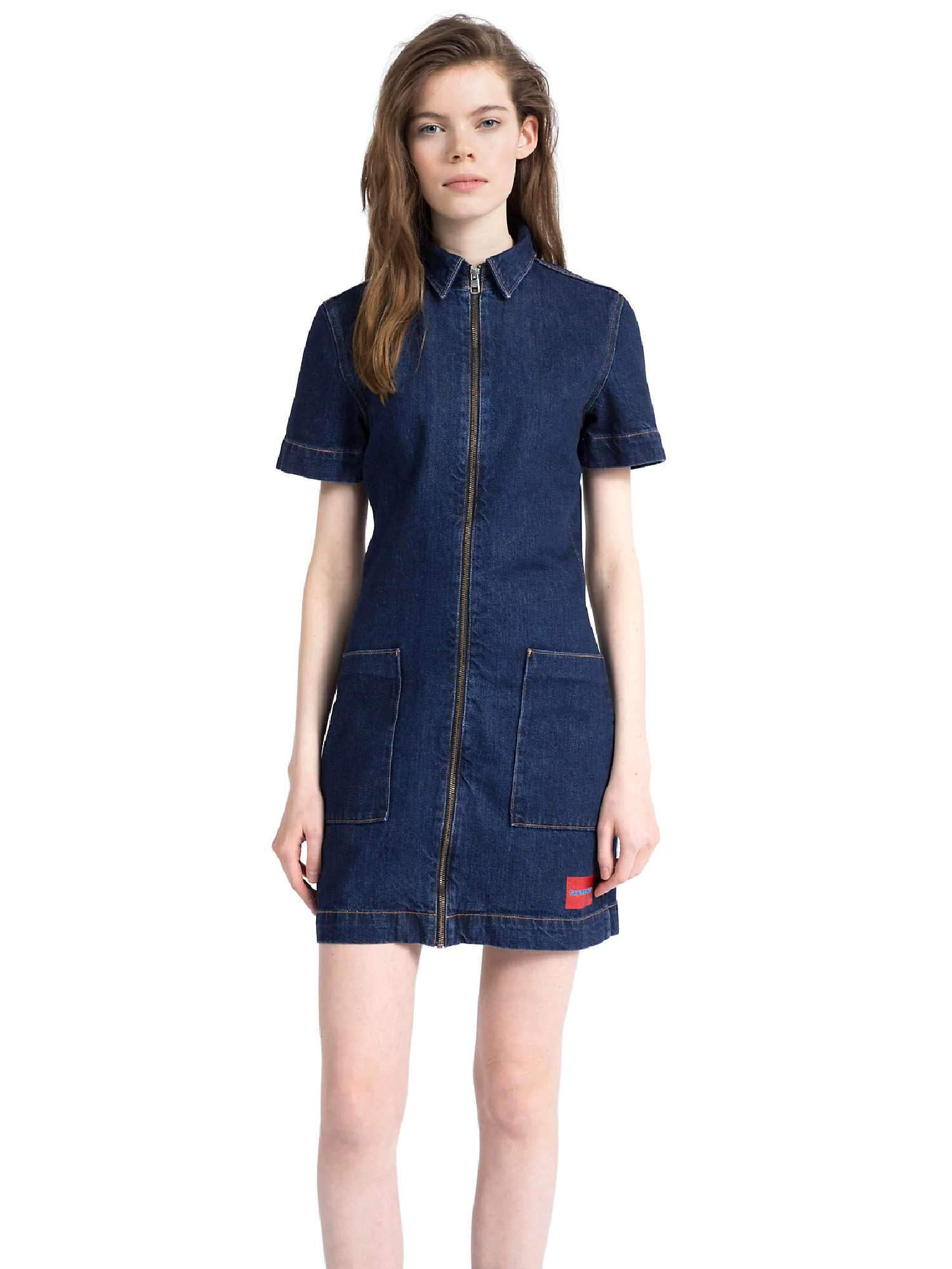 Calvin Klein Jeans J20J207734 Zip Front Dress Vestido Mujer