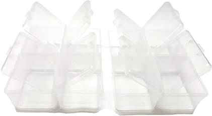 Trendz Handpicked Individual Lids From Outside Four Multipurpose Clear Transparent Compartment Storage Box-Pack Of Two