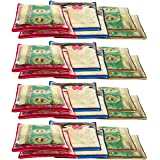 Amazon Brand - Solimo 24 Piece Non Woven Fabric Single Saree Cover Set, Pink, Blue and Beige