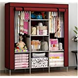 FASNO Navbharti 6+2 Layer Fancy and Portable Foldable Collapsible Closet | Cabinet ( Kneed to Be Assembled) (88130…