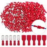 eHUB Fully Insulated Male Female Spade Bullet Wire Connector Electrical Crimp Terminals, Pack of 100 Pieces (Red)