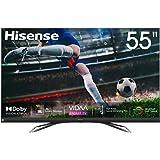 Hisense 55U8QF QLED telewizor 139 cm (55 cali) (4K ULED HDR Smart TV, Ultra Premium HD, HDR10+, Dolby Vision&Atmos, Full Arra