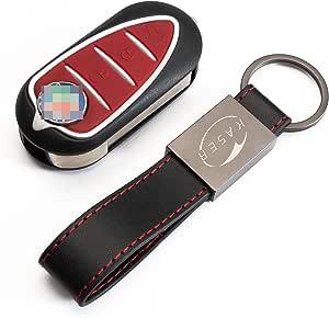 Kaser Schlüssel Gehäuse Fernbedienung Für Alfa Romeo Autoschlüssel Funkschlüssel Mito Giulietta 159 Brera Mit Leder Schlüsselanhänger