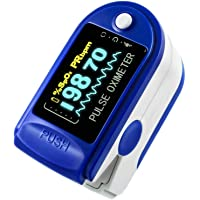 Digistream Fingertip Pulse Oximeter Medical Device For Adults/Children | Instant Blood Oxygen SpO2 And Heart Rate Monitoring Assembled in India (Blue Color) (CE, ROHS, FDA, FCC Certified)