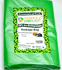 Garbage Bags OXO Biodegradable 19 inch x 21 inch (Green) Medium