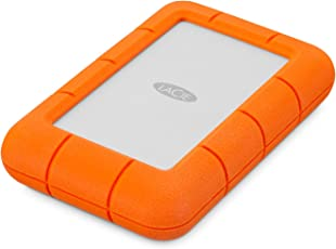 LaCie LAC9000633 Mini 4 TB Externe robuste Festplatte (6,4 cm (2,5 Zoll) Rugged, Staub-, Stoss- und Spritzwasser- geschützt, USB 3.0)