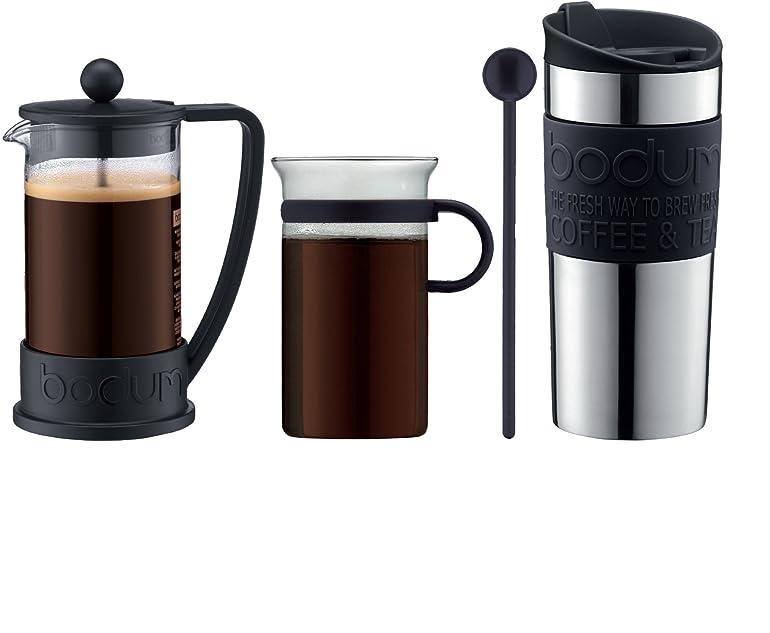 Bodum Coffee Set, Coffee Maker, 3 Cups, 0.35 L, Travel Mug, Vacuum ...