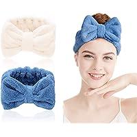 Fascia per spa - 2 pezzi capelli in microfibra per trucco fascia elastica per capelli Fascia per Capelli per doccia…