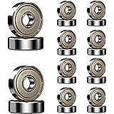 20 stuks Ruesious 608 ZZ kogellagers, 608zz Metal Double Shielded Miniatuur groefkogellagers (8mm x 22mm x 7mm) (20 Pack 608