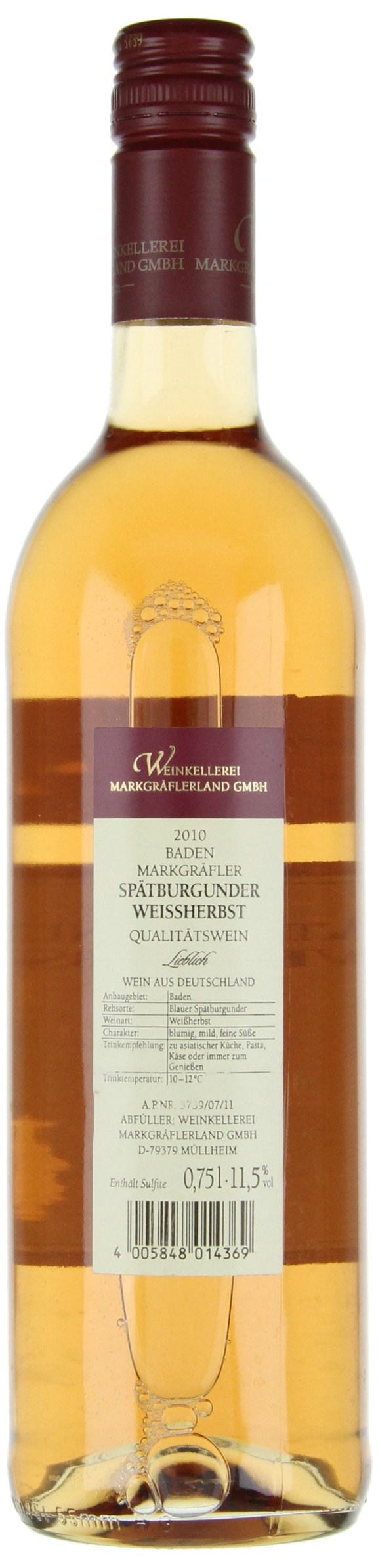 Baden-Markgrflerland-Sptburgunder-Weiherbst-Ros-QbA-lieblich-6-x-075-l