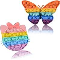 Vineco- Anti Stress Enfant Pas Cher 2 Pcs Silicone Pincez Gadget Bubble Sensoriels à Presser Push Jouet, Fidget Toys…