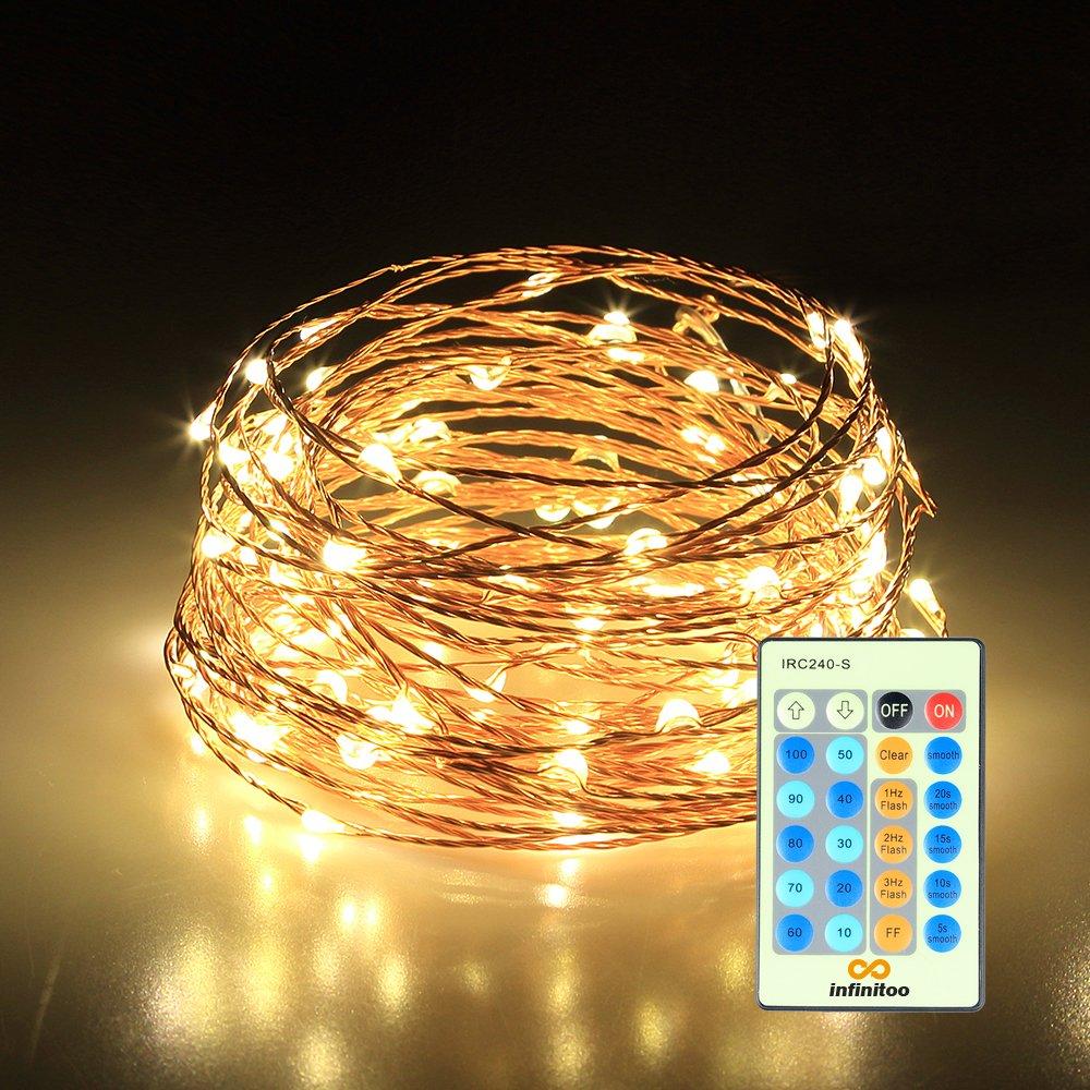 Lichterkette Infinitoo 10 Meter 100 Led Kupferdraht Gluhbirne