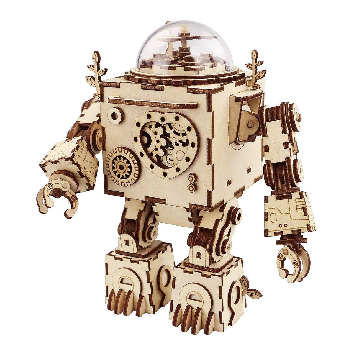 Think Gizmos Juguete de Robot Musical TG714 – Juguete de Robot Hágalo Usted Mismo con Efectos Musicales para los Adultos y Niños Que Tienen 12 años y más