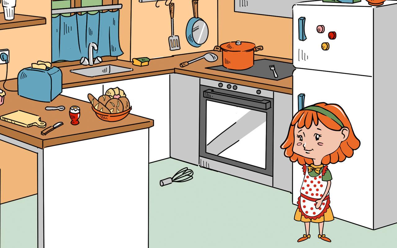 anne zeigt ihr zuhause erste w rter lern app f r kinder von happy touch kinderspiele amazon. Black Bedroom Furniture Sets. Home Design Ideas
