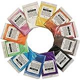 VITORY Pigment énorme mica en poudre powder set effet métallique pour résine époxy - fabrication de savon kit (12 couleurs 10